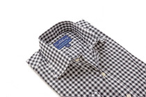Black Orchard Gingham Regular Collar