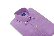 Purple Orchard Gingham Slim Collar