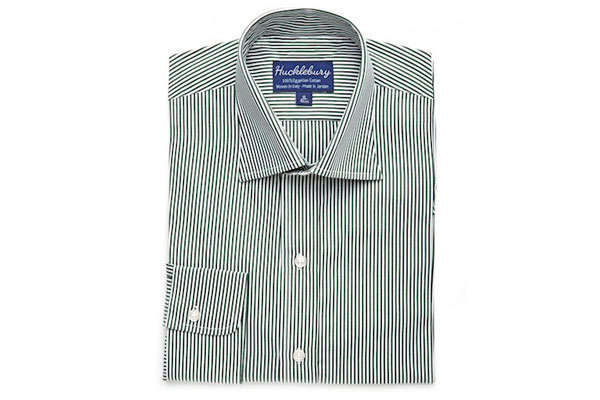 Olive Green Striped Shirt