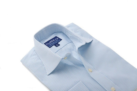 Thomas light blue stripes regular collar