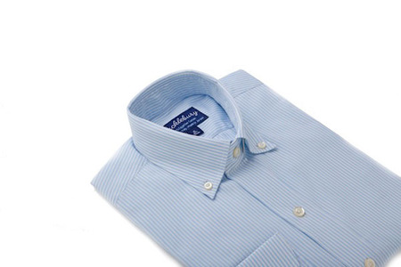 Thomas Light Blue stripes slim collar