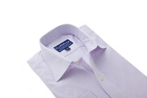 Thomas Light Purple Stripes Regular Collar