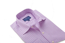 Thomas Purple And White Stripes Regular Collar