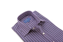 Thomas Purple Stripes Regular Collar