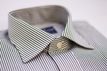 Thomas Green And White Stripes Collar